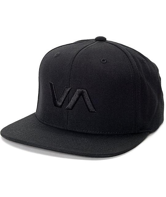RVCA VA II Black Snapback Hat