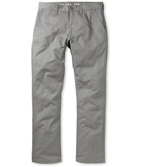 RVCA Week-End Smoke Grey Slim Fit Chino Pants