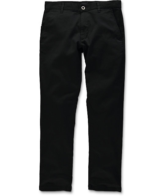 RVCA Weekend Stretch Black Chino Pants