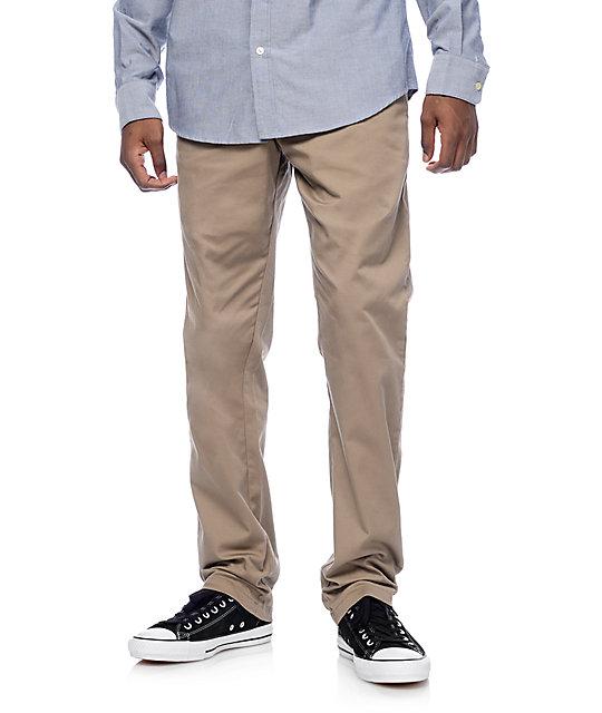 RVCA Weekend Stretch Dark Khaki Chino Pants