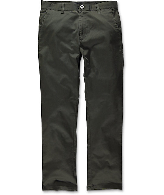 RVCA Weekend Stretch Olive Chino Pants