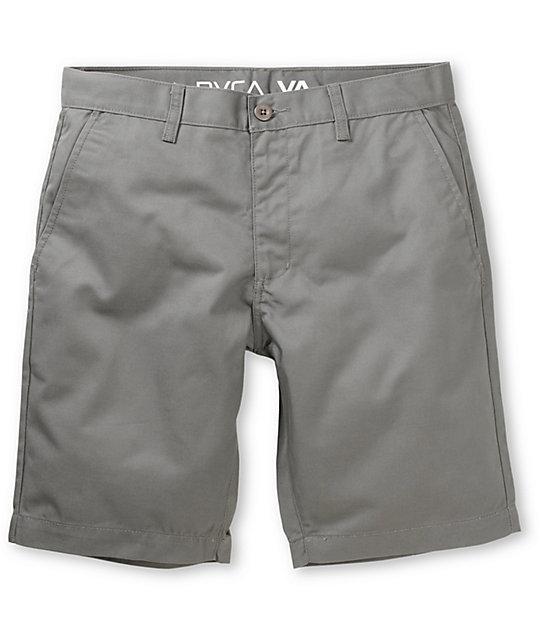 RVCA Weekender Grey Slim Fit Chino Shorts