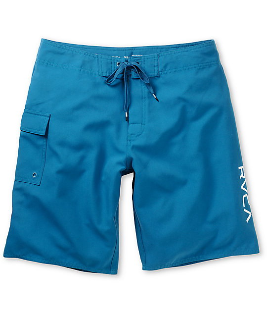 RVCA Western Ocean Depth Blue 21 Board Shorts