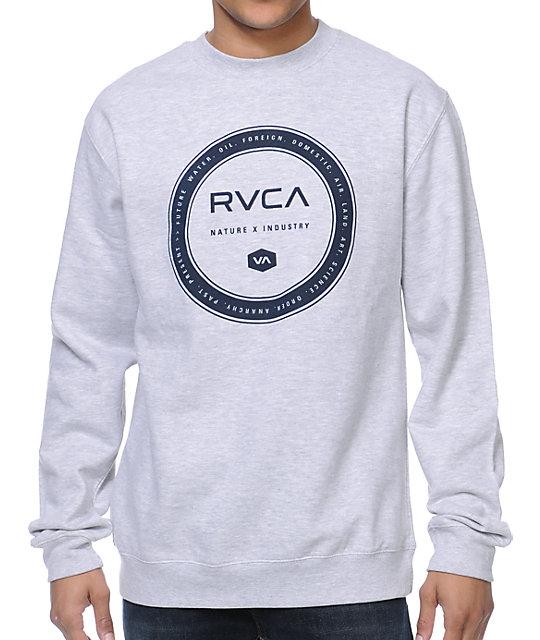 RVCA Wheel Grey Crew Neck Sweatshirt