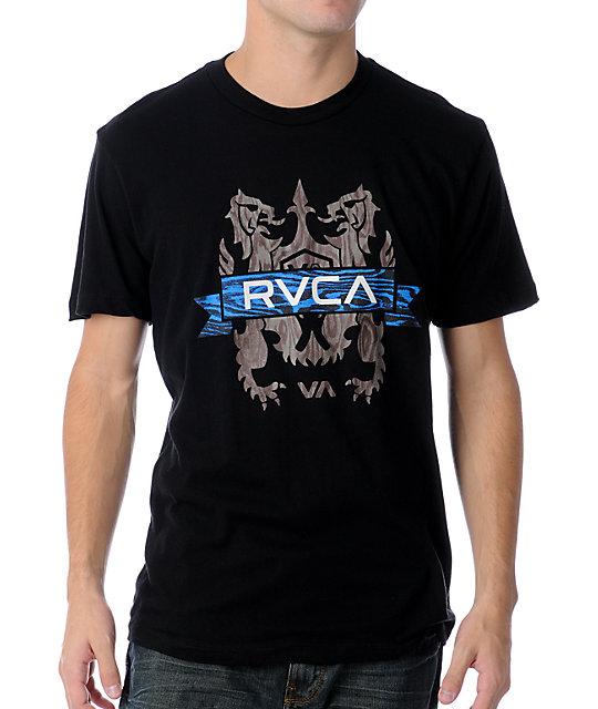 RVCA Wooden Crest Black T-Shirt