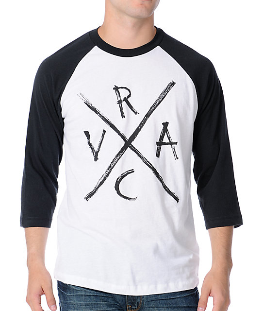 RVCA x White & Black Baseball T-Shirt