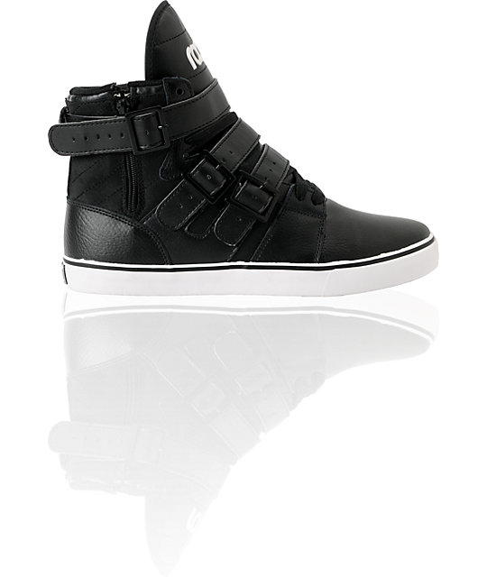 Radii Shoes Straight Jacket Black Leather High Top Shoes
