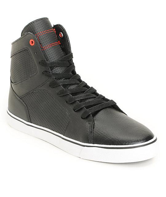 Radii Simple Black High Top Shoes