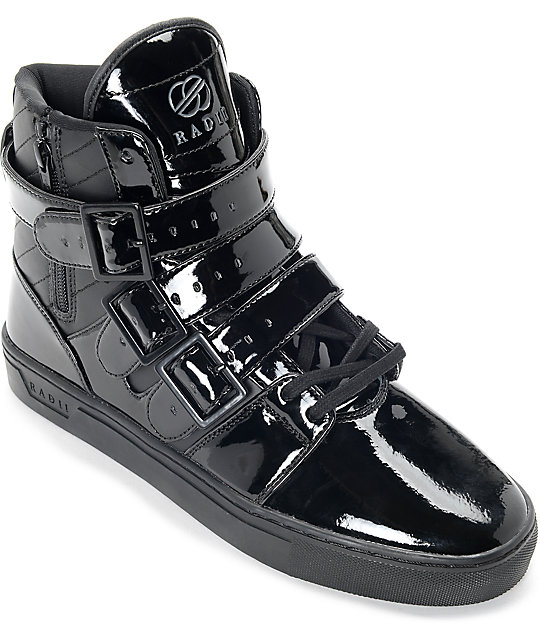 Radii Straight Jacket Black Patent Leather Shoes