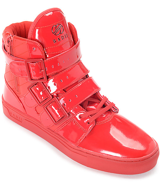 Radii Straight Jacket Candy Apple Red Patent Leather Shoes