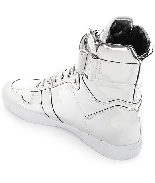 Radii Vertex Liquid Silver Leather Shoes