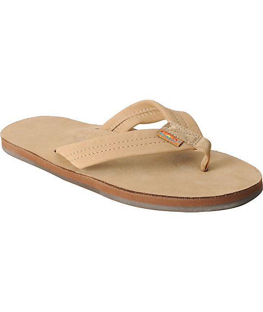 Rainbow Mens Premier Tan Leather Mens Sandals