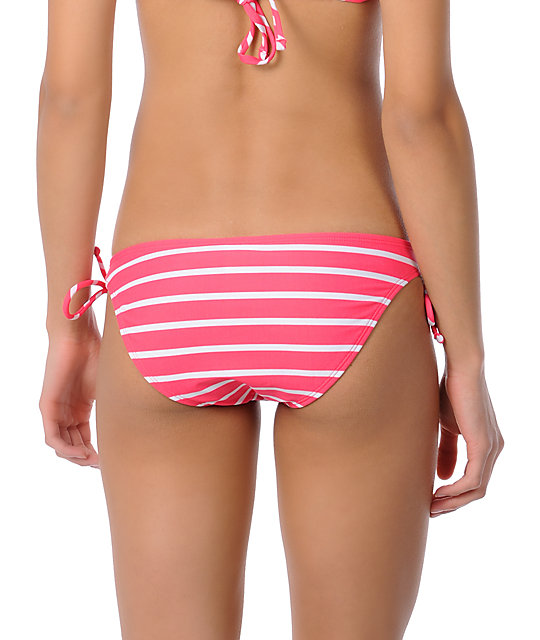 Raisins Sweet Pea Pink Tie Side Bikini Bottom