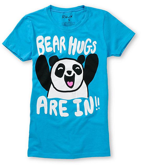 Ralik Bear Hugs Turquoise T-Shirt