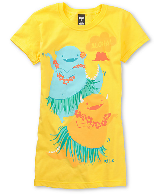 Ralik Hula La Yellow T-Shirt