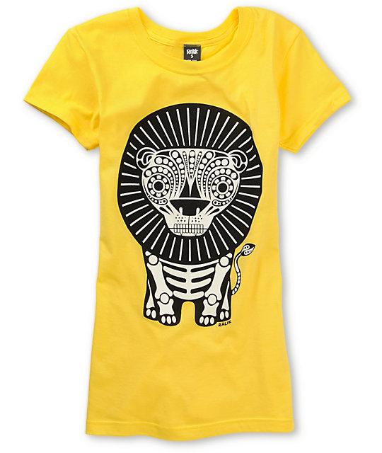 Ralik Lion Bones Yellow Glow T-Shirt