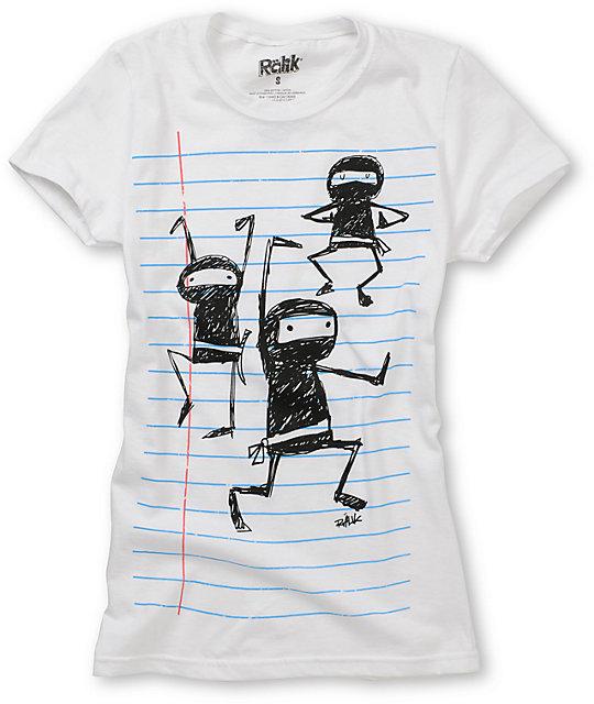 Ralik Ninja 101 White T-Shirt