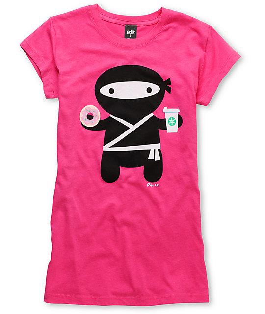 Ralik Ninjalatte Scratch & Sniff Hot Pink T-Shirt