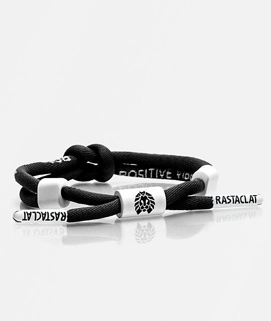 Rastaclat Positive Vibes Knotaclat Black Bracelet