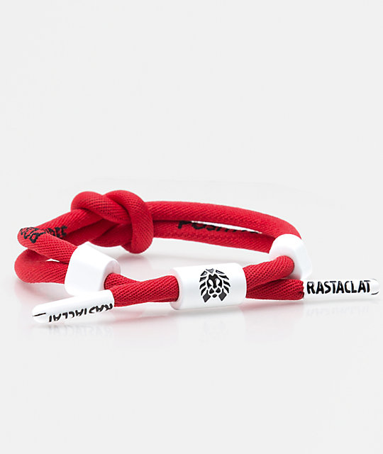 Rastaclat Positive Vibes Knotaclat Red Bracelet