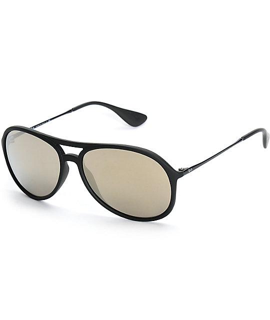 Ray ban alex gafas de sol en negro y oro espejo zumiez for Gafas de sol ray ban espejo
