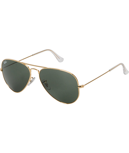 Ray-Ban Aviator Arista & Green Sunglasses