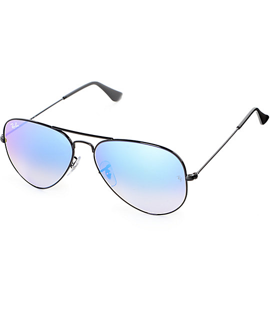 Ray-Ban Aviator Blue Flash Gradient Sunglasses