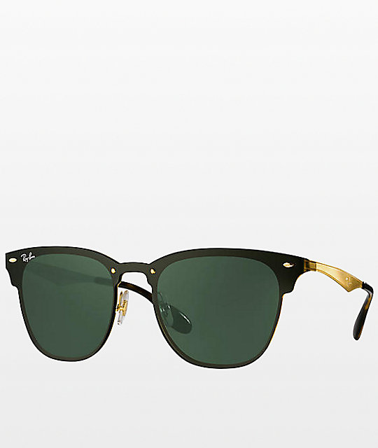 Ray-Ban Blaze Clubmaster Gold Sunglasses