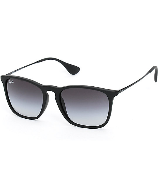 ray ban sunglasses zumiez  ray ban chris rubber black sunglasses