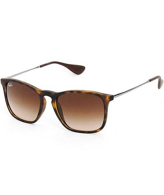 Ray-Ban Chris Rubber Havana Tortoise Shell Sunglasses