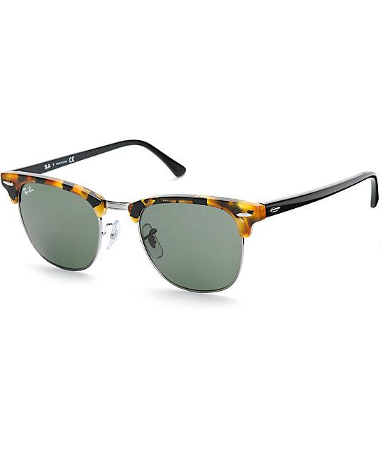 havana clubmaster  Ray-Ban Clubmaster Fleck Havana Sunglasses at Zumiez : PDP