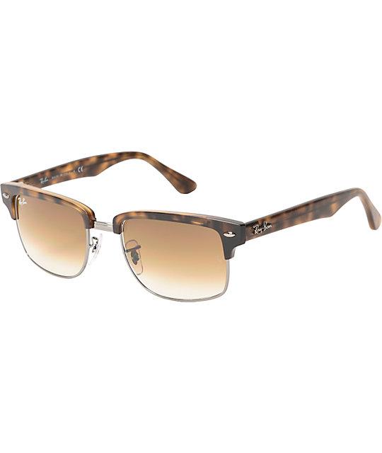 ray ban havana clubmaster  Ray-Ban Clubmaster Havana Tortoise Sunglasses at Zumiez : PDP
