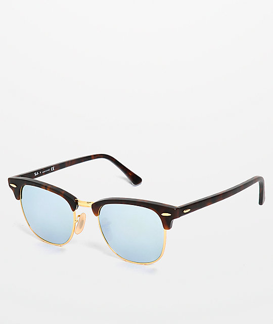 brown ray ban clubmaster  Ray-Ban Clubmaster Sand Havana Sunglasses at Zumiez : PDP