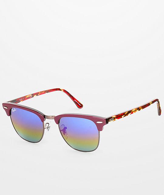 Ray-Ban Clubmaster gafas de sol en color vino