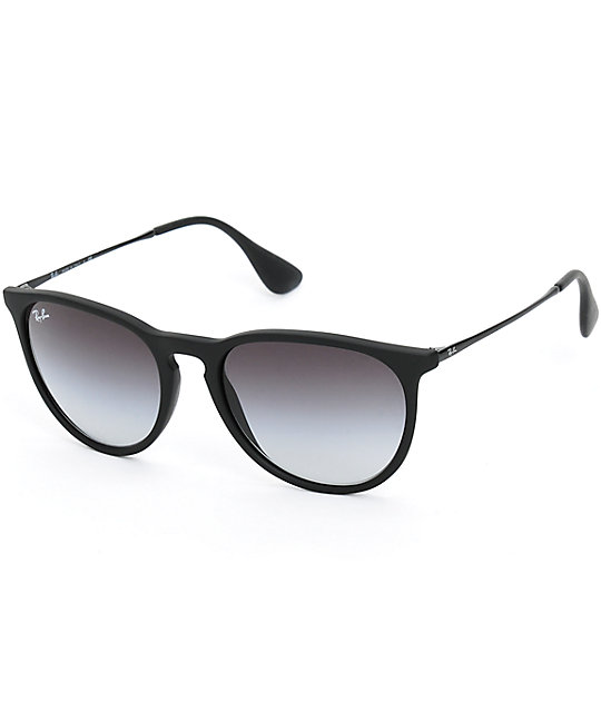 Ray-Ban Erika Black Rubber Grey Gradient Sunglasses