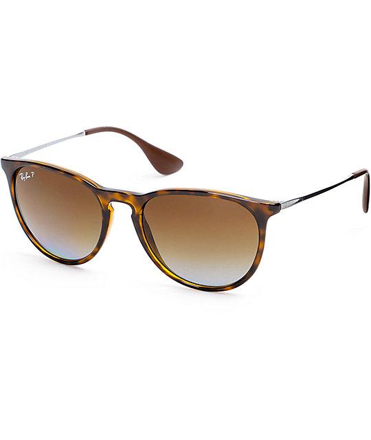 ray ban erika havana brown polarized sunglasses. Black Bedroom Furniture Sets. Home Design Ideas