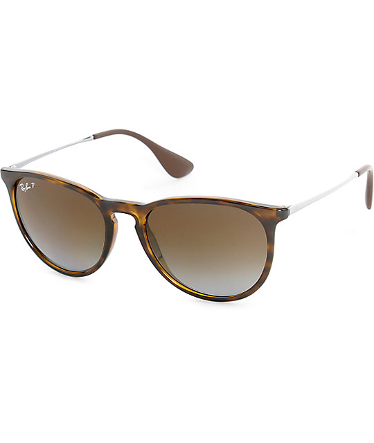 ray ban havana polarized sunglasses  ray ban erika havana tortoise polarized sunglasses