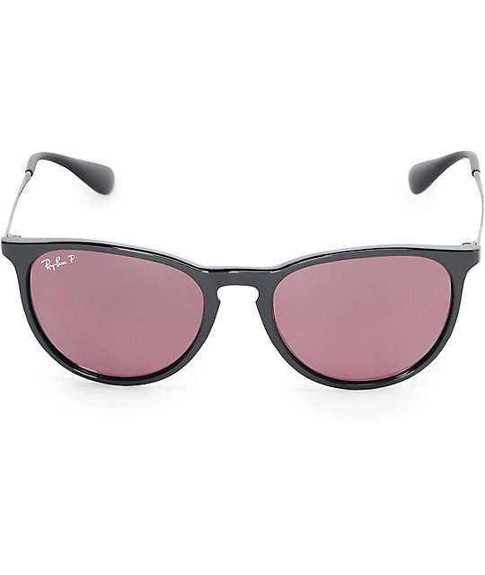 Ray-Ban Erika Polarized Classic Violet Mirror Sunglasses