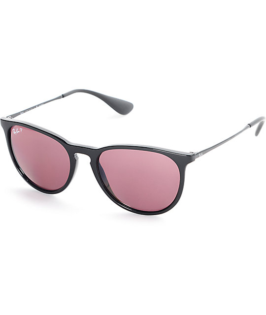ray ban pilot polarized afq5  Ray-Ban Erika Polarized Classic Violet Mirror Sunglasses