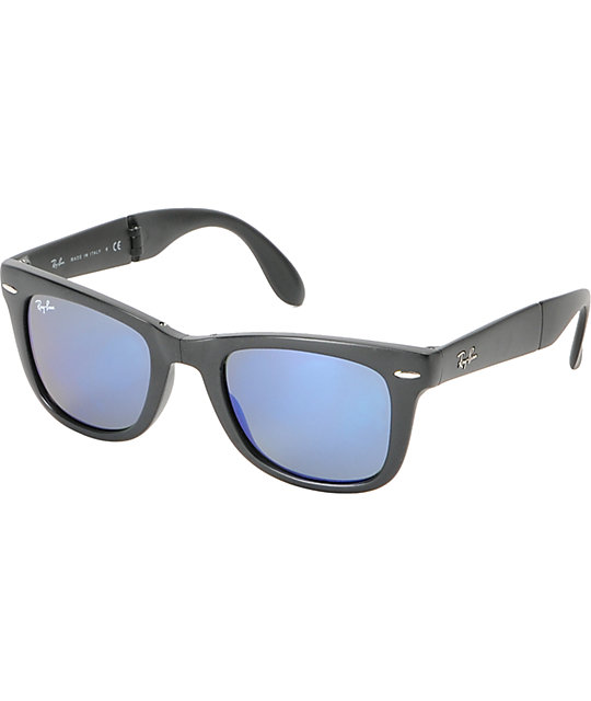 ray ban wayfarer matte  ray ban folding wayfarer matte black sunglasses