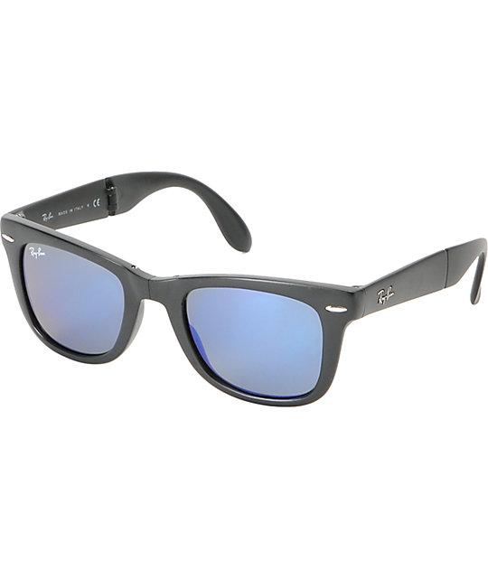 ray ban wayfarer matte black  ray ban folding wayfarer matte black sunglasses