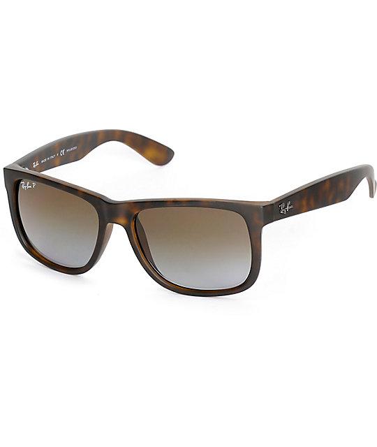 Ray-Ban Justin Havana Tortoise Polarized Sunglasses
