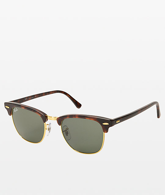 clubmaster classic tortoise  Ray-Ban Large Clubmaster Tortoise Sunglasses at Zumiez : PDP