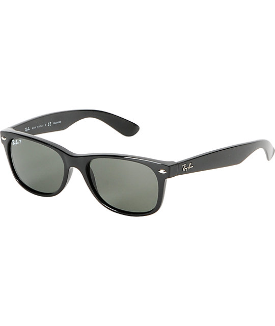 Ray-Ban New Wayfarer Black Polarized Sunglasses