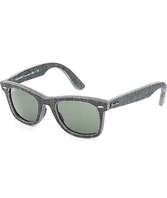 new wayfarer ray ban pbhi  Ray-Ban New Wayfarer Denim Sunglasses
