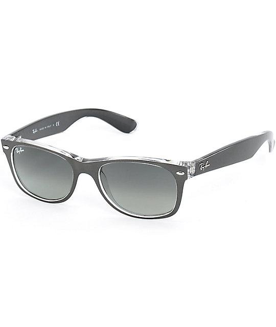 ray ban new wayfarer gunmetal translucent sunglasses. Black Bedroom Furniture Sets. Home Design Ideas