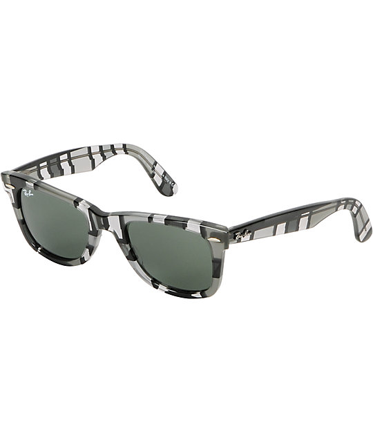 Ray-Ban Original Wayfarer Grey Print Sunglasses