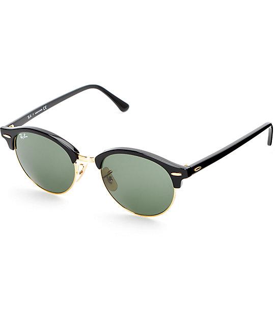 ray ban sunglasses zumiez  ray ban round clubround black sunglasses