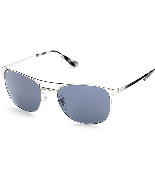 ray ban sunglasses classic  Ray Ban Signet Silver Classic Sunglasses at Zumiez : PDP