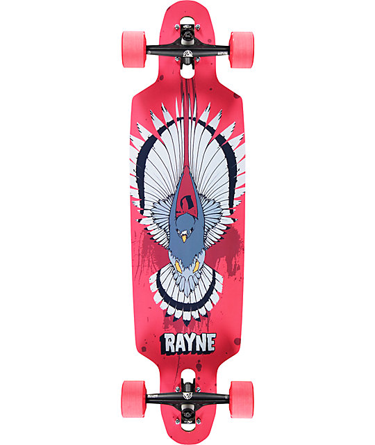 "Rayne Flight Red Hawk 35""  Drop Through Longboard Complete"